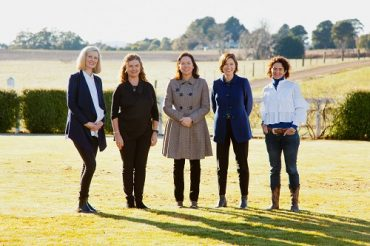 Minister for Agriculture, the Hon. Jaclyn Symes at the launch of the 2020 Victorian Rural Women's Leadership and Mentoring Program with leadership program participants